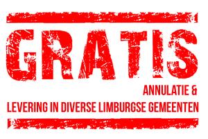 Gratis annulatie bij slecht weer en gratis levering in diverse limburgse gemeenten